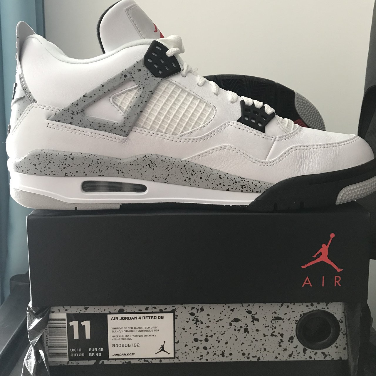42cd696a0ae138 Air Jordan 4 Retro OG White Cement Unworn DS Condition   to - Depop