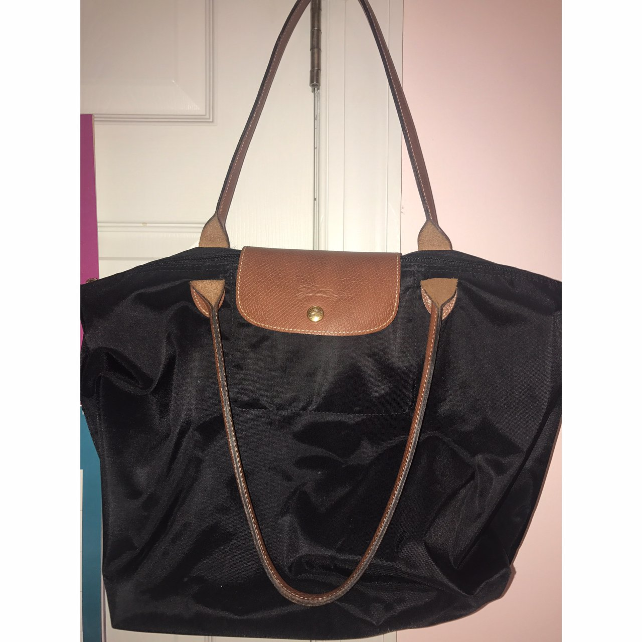 bbcd9181c29 Used Longchamp Le Pliage Medium Size Tote Original Price - Depop