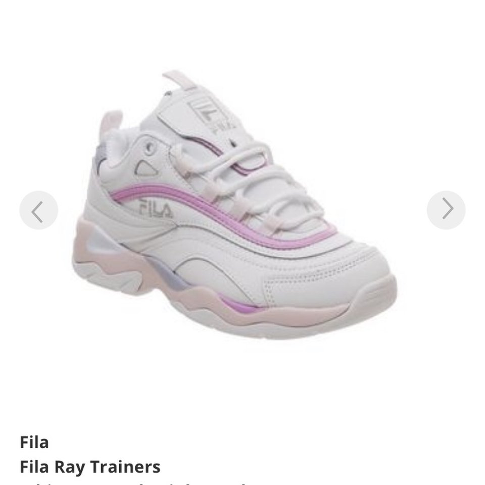 Fila Ray white pink and lilac trainers
