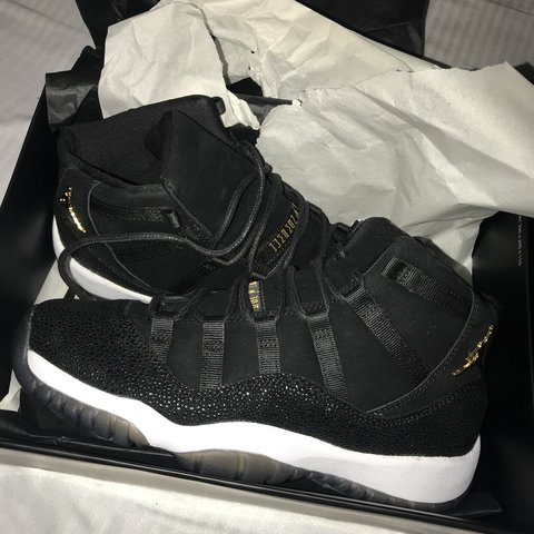 19708891f3f662 Women s Nike Air Jordan 11 heiress black   gold! They are in - Depop