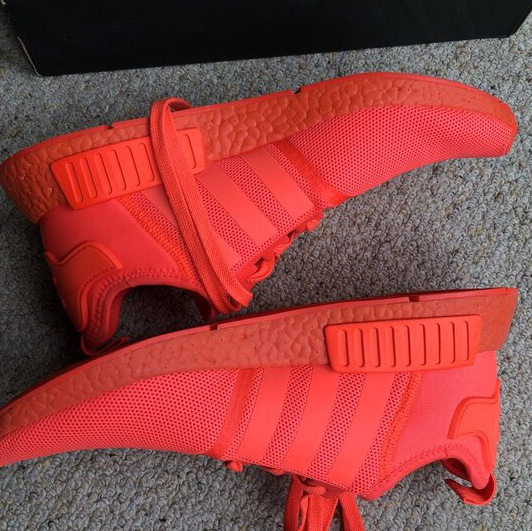 huge discount 9d02d 94048 limited edition triple red nmd solars with orange... - Depop