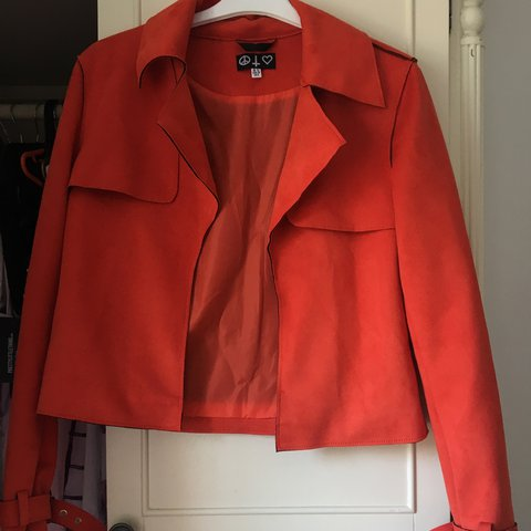 b4de00013cd48 Missguided orange blazer  jacket. Size 10 would fit 6-10. a - Depop