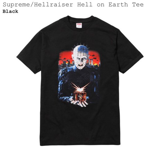 d6d2c8b84 Supreme/Hellraiser Hell on earth tee, never worn hyped item. - Depop