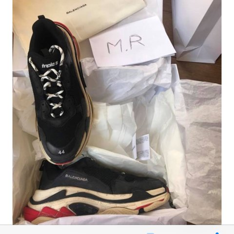 87184fb9a3a Balenciaga Triple S Black Red deadstock never worn Sold out - Depop
