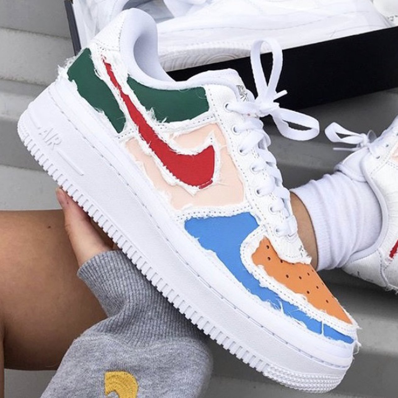Nike Air Force 1 LX Reveal (Red swoosh) CAN POST... - Depop