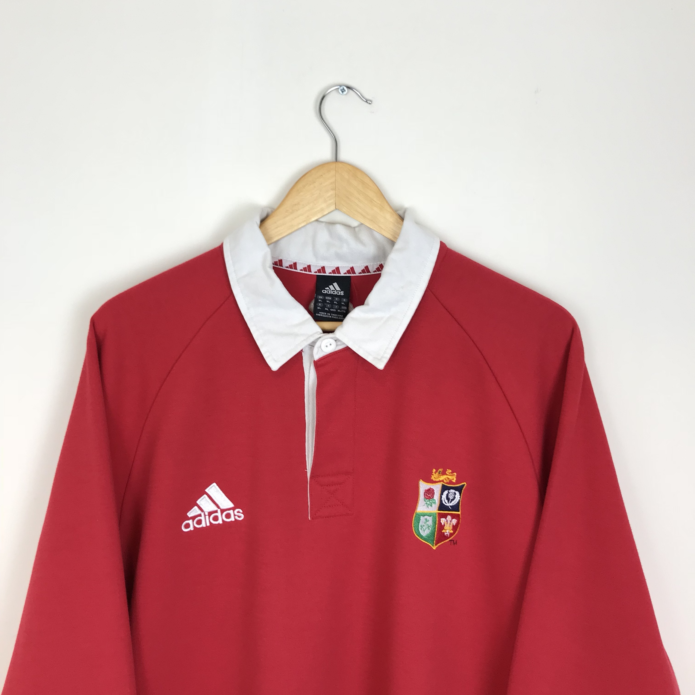 7a98093e Vintage Adidas Red British and Irish Lions Rugby... - Depop