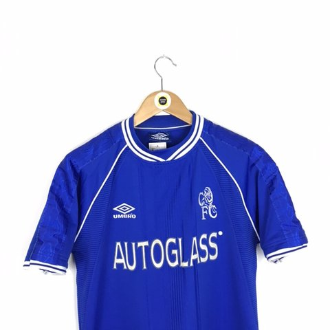 f0080d2c95b @freshmans_vintage. 22 days ago. Rotherham, United Kingdom. Vintage Umbro  Chelsea FC Blue and White 1999-01 Home Kit Short Sleeve ...