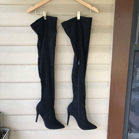 49b34945030 Fashion Nova faux suede black boots