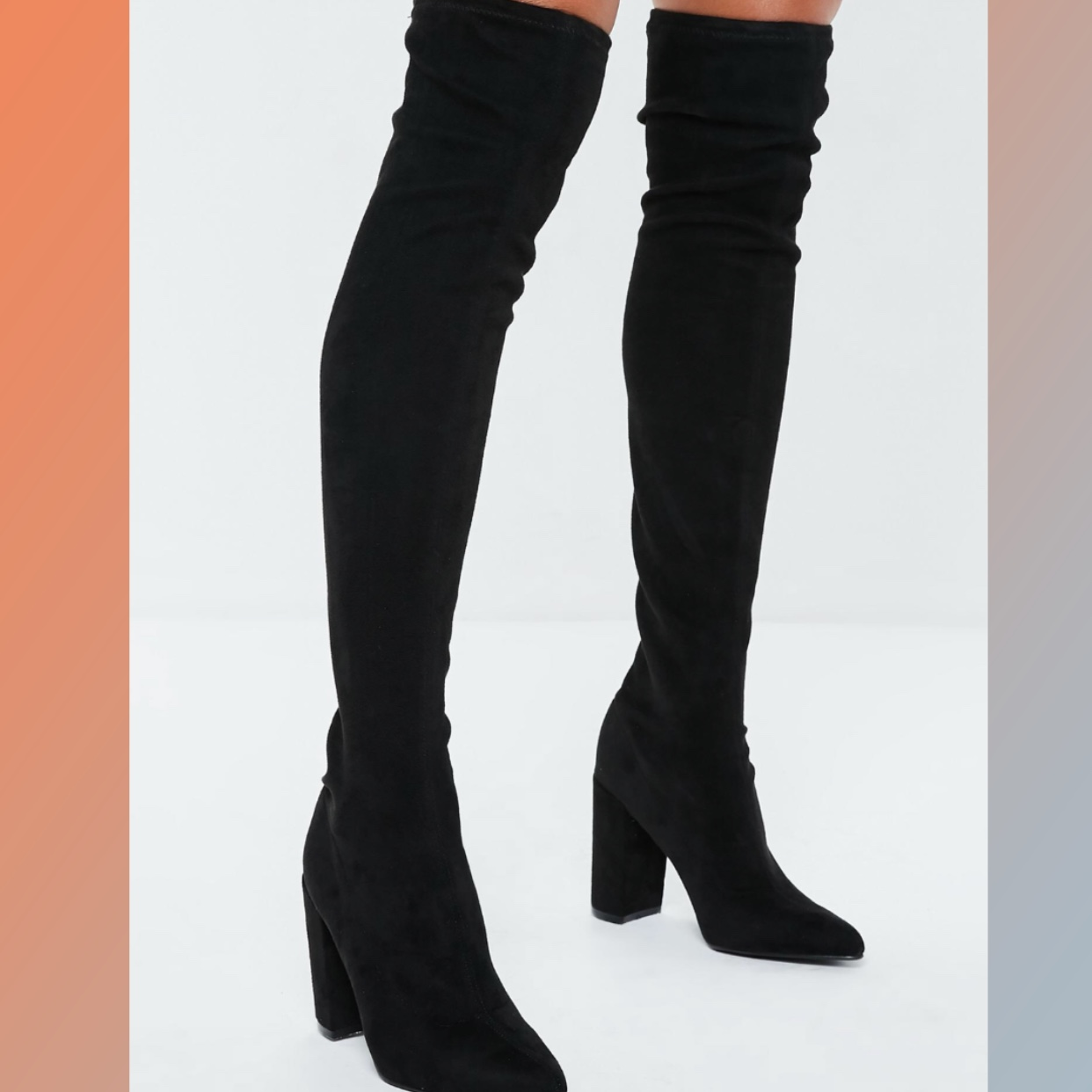 3ead9ec4137 Missguided Knee High Boots - Worm Once, Perfect... - Depop
