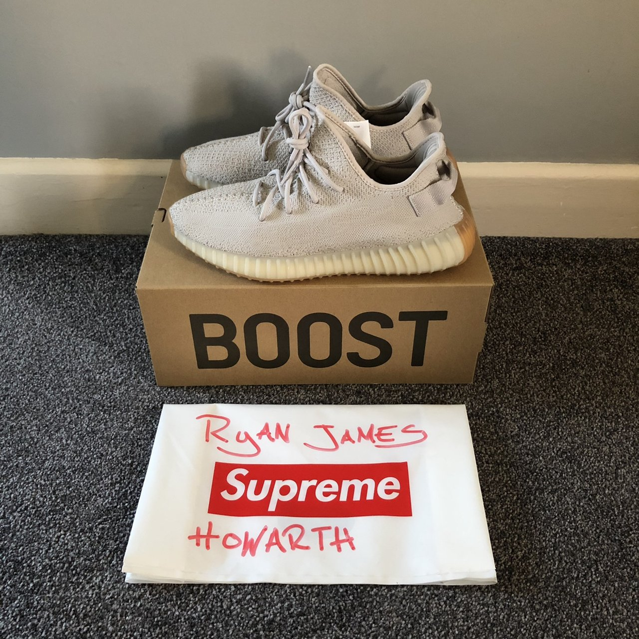 e4cd47b33d29c Adidas Yeezy Boost 350 V2 Sesame Size UK11 Only tried from - Depop