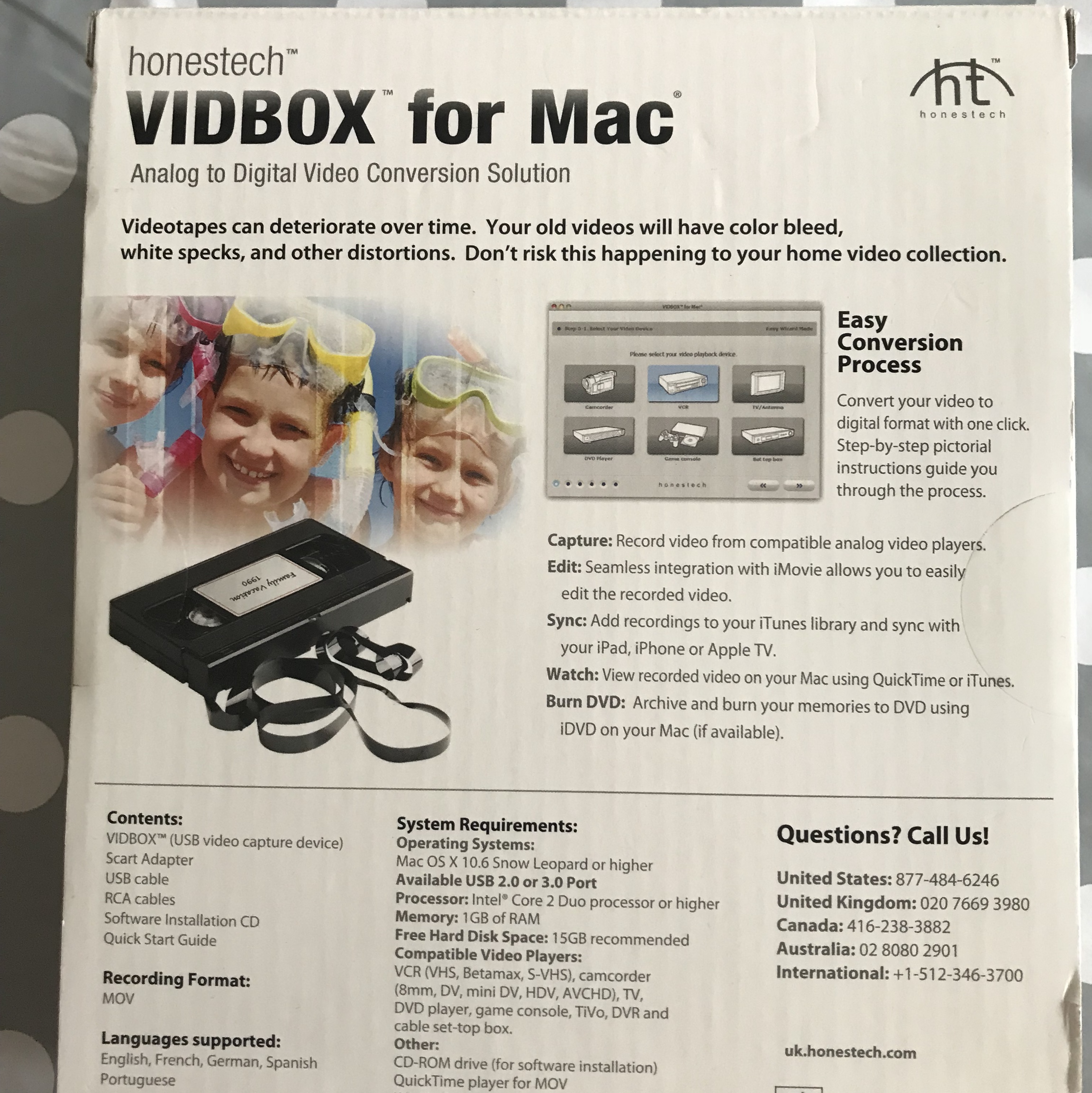 Honestech VIDBOX for Mac Video conversion    - Depop