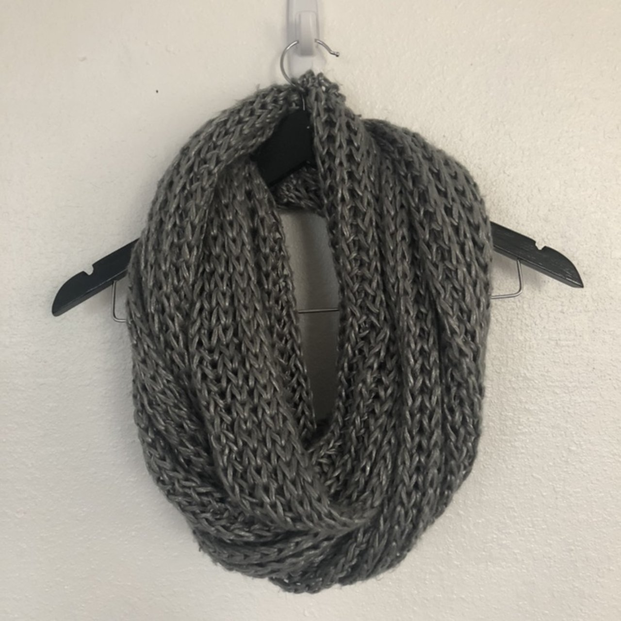 07d8ecb5b7c47 Grey Infinity Scarf. In Used Condition. Has a stretched out - Depop