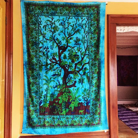 058b2190fde7 @wildwonderer. last year. Vermont, USA. Mexicali blues tree of life tapestry