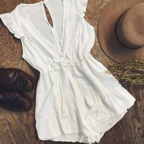 20fb17e645ee cute little white playsuit from princess polly size 6