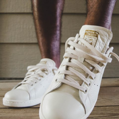 e1aa197246e adidas stan smith colour - tan   beige   - 9.5 10 size - - - Depop