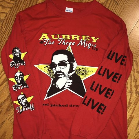 53996356 aubrey and the migos merch shirt size small - Depop