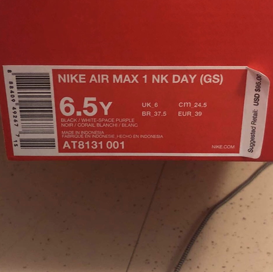 Nike air max 1 have a nike day gs 6.5 fits size 8 Depop