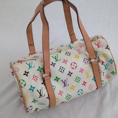 4357bf744943 Multicolor rainbow Louis Vuitton purse . . Has some wear and - Depop