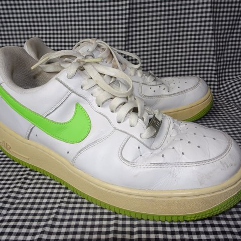 reputable site 81a3b 2d17a LIME GREEN SWOOSH VINTAGE NIKE- 0
