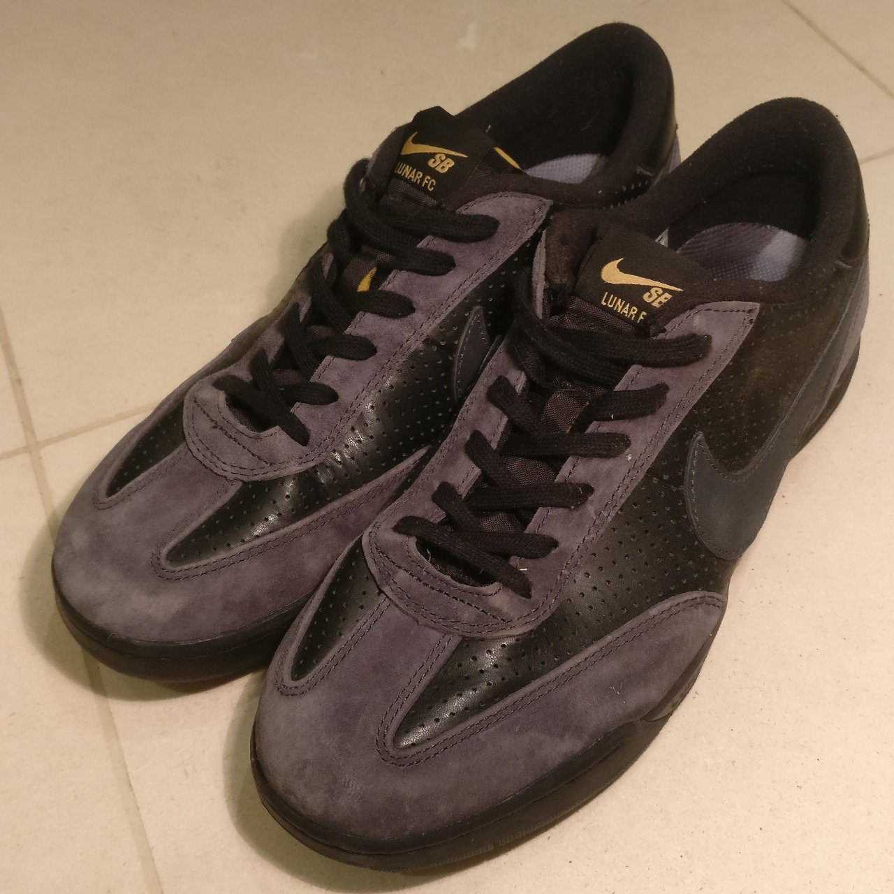low priced 05821 d8b3c adamerry. 2 months ago. Hoo, Suffolk, United Kingdom. Nike SB X FTC Lunar  FC Shoes - Black  Anthracite - Metallic Gold ...