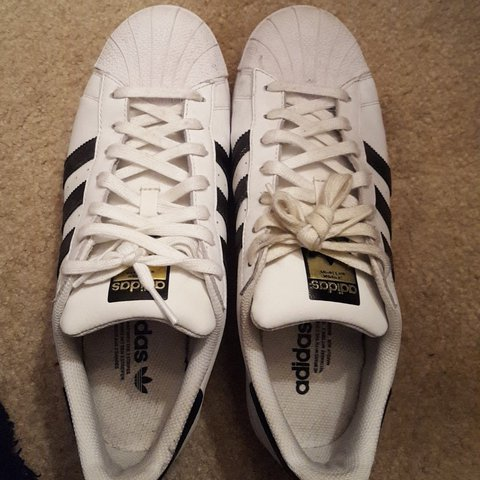 186e08a325c Size 8.5(mens) Adidas superstar Extremely good condition no - Depop