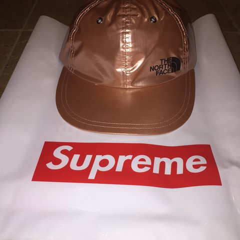 b977bdb3 🚨SUPREME X TNF ROSE GOLD HAT🚨 🚨DEAD STOCK 🚨COMES WITH - Depop