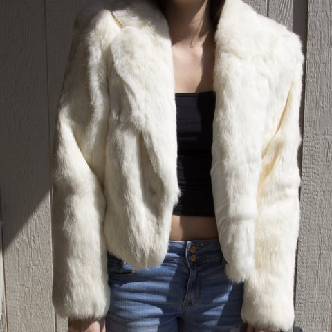 With rabbit fur coat vintage final, sorry