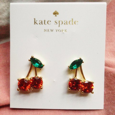 bd73dd11769e @anne_frankenstein. 2 years ago. Orlando, United States. AUTHENTIC KATE  SPADE cherry stud earrings.