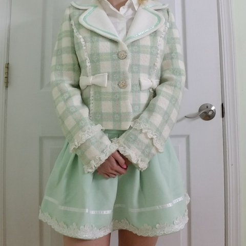 860af06115e2 Candy Rain mint green pastel jacket and skirt set