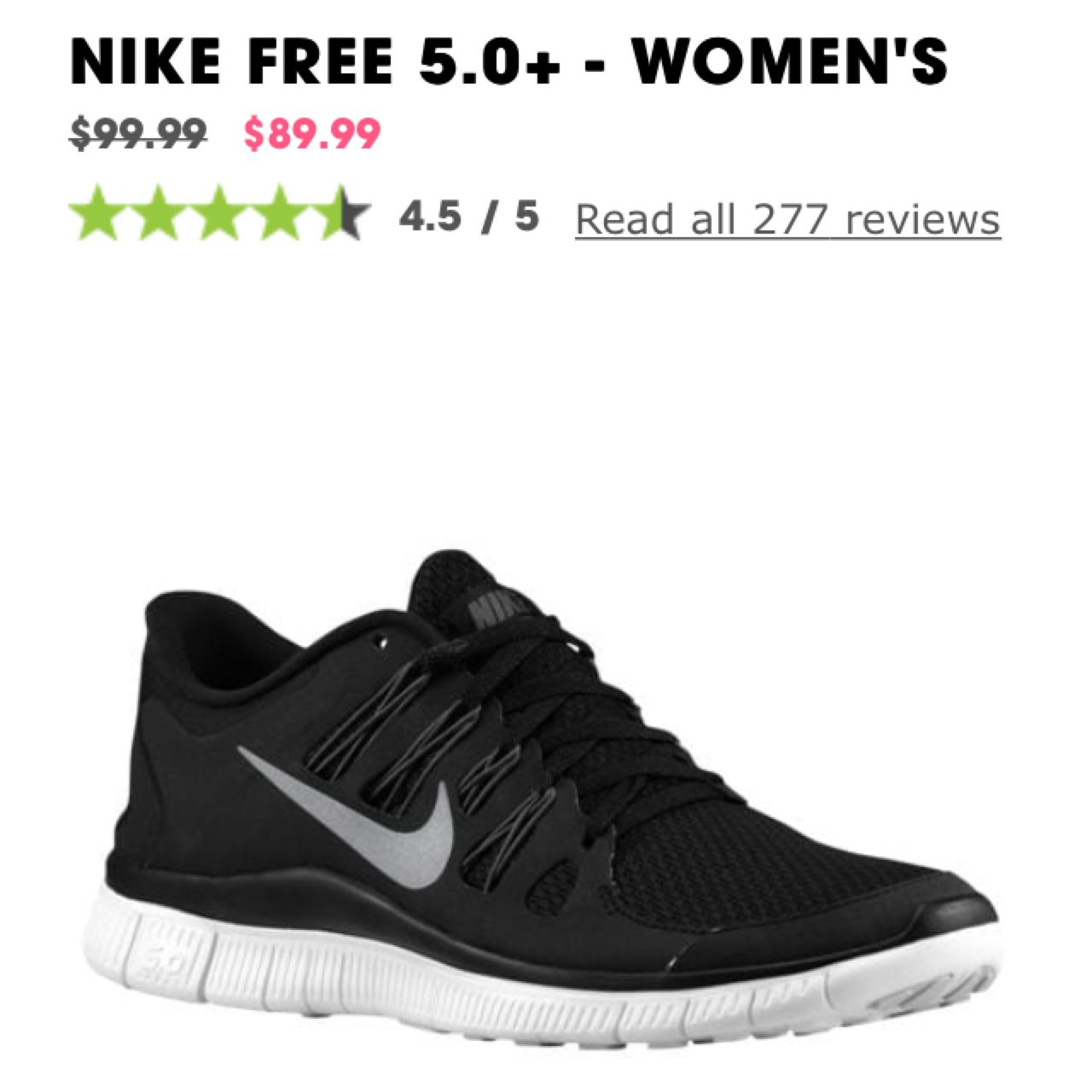 72956fa756e4 Nike free 5.0+ women s running shoes
