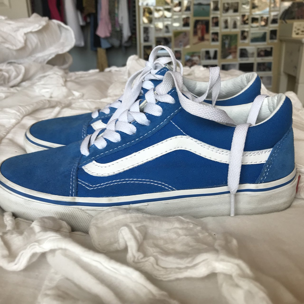sale retailer 765b6 7d752 royal blue old skool vans. these are so cute but I never 3 - Depop
