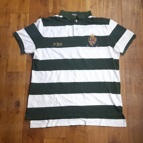 64a9269b @stardawg. 8 days ago. Stockport District, GB. Ralph Lauren polo shirt -  Size XL - White and green stripes