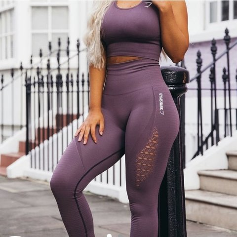 9f47f4a63d6d8f @zoe89. last year. United Kingdom. Gymshark purple wash energy seamless  leggings. Sold out online.