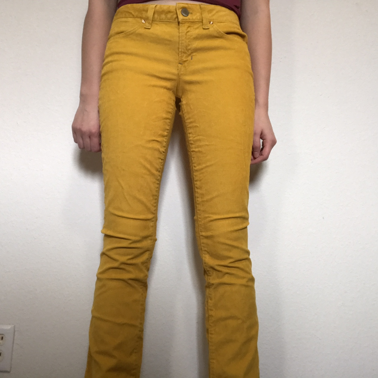 latest design highly coveted range of complimentary shipping gap 1969 yellow corduroy pants. super cute! says... - Depop