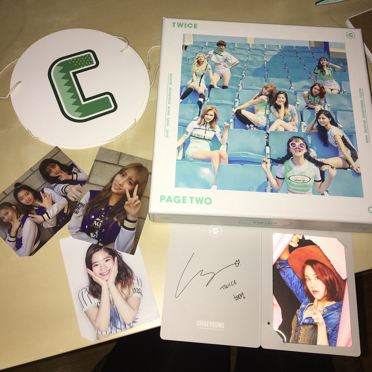 TWICE - PAGE TWO ALBUM - CHEER UP BANNER - CHAEYOUNG    - Depop