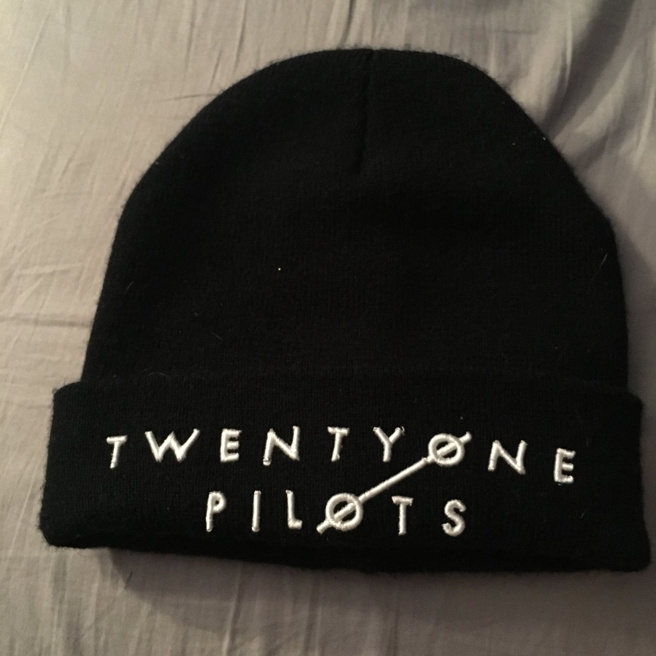 Twenty one pilots beanie. Bought from one of their shows in - Depop 65f8ae947b8