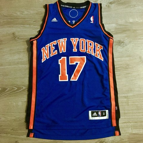 d7a1ff90ac14 Adidas New York Knicks Jeremy Lin NBA jersey Men s size is - Depop