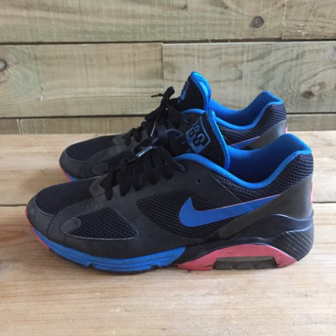 Nike Air Lunar 180 in the Black Alarming Red Blue Spark are - Depop 2c4abf30795c