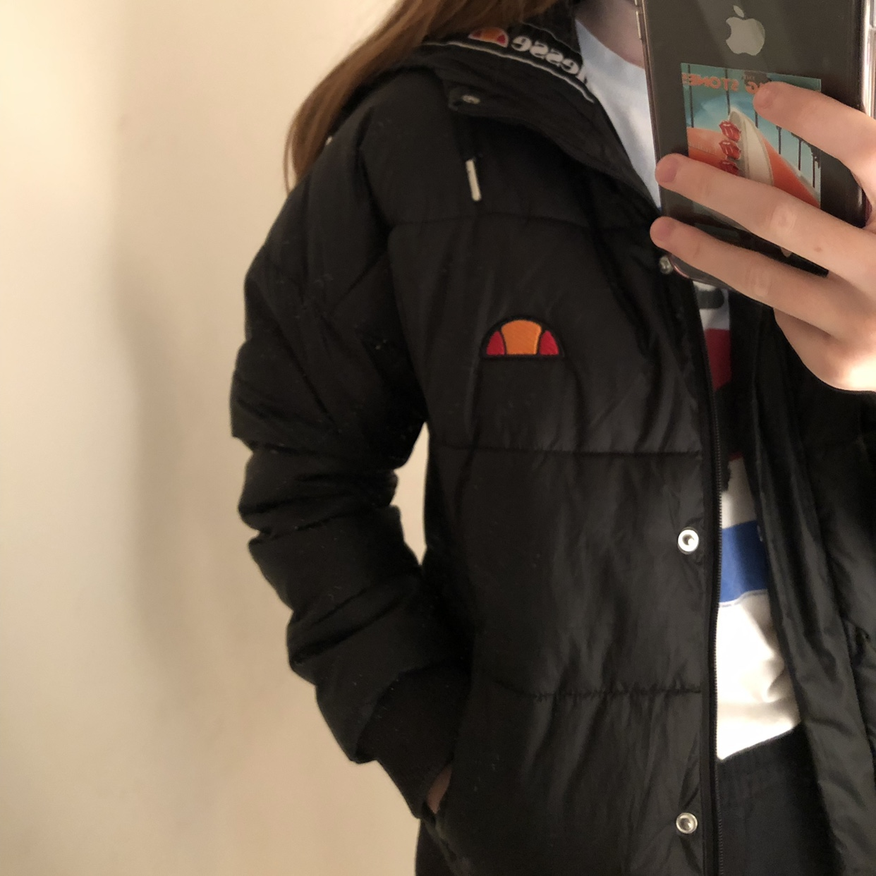 Padded Ellesse Black And Puffer JacketIt's Depop Women's QBdWCoerx