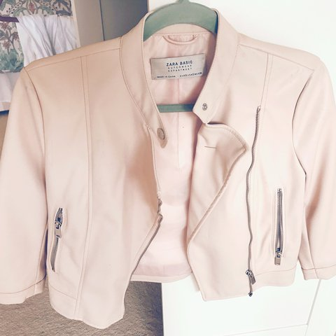 834521f7 @charcarter123. 2 years ago. Chesterfield, UK. Zara baby pink faux leather  jacket. Been worn once ...