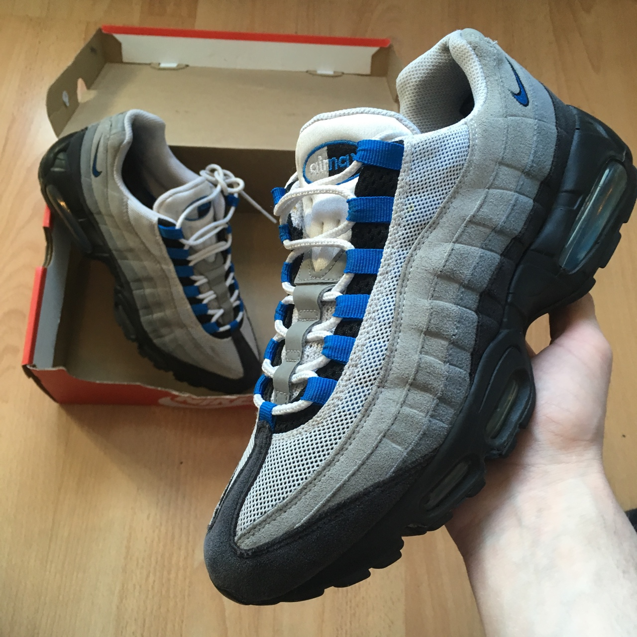 Nike Air Max 95 Spark Blue From 2013 Good Condition Depop