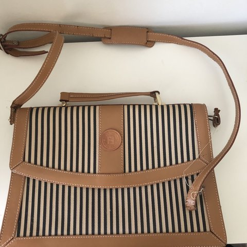 fbe4f6b4db Vintage Fendi Crossbody Bag • beautiful striped briefcase no - Depop