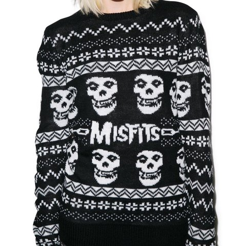 iron fist merry misfits sweater size small but is very depop - Misfits Christmas Sweater