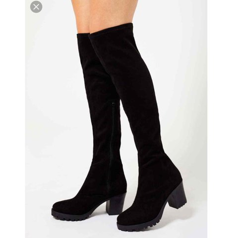 d7f59828653b Miss Selfridge chunky Kylie over the knee boots. Size 6. for - Depop