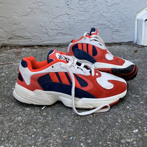 a29dce90f1f7d Adidas 🔴⚪ 🔵 Yung 1 chalk white    collegiate navy sneakers - Depop