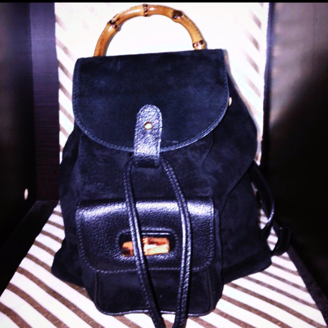 Gucci Bamboo Backpack Mini backpack excellent condition. of - Depop