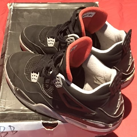 95739647d008cc Nike air jordan retro 4  BRED   Black Cement  OG 2008 UK 9 a - Depop