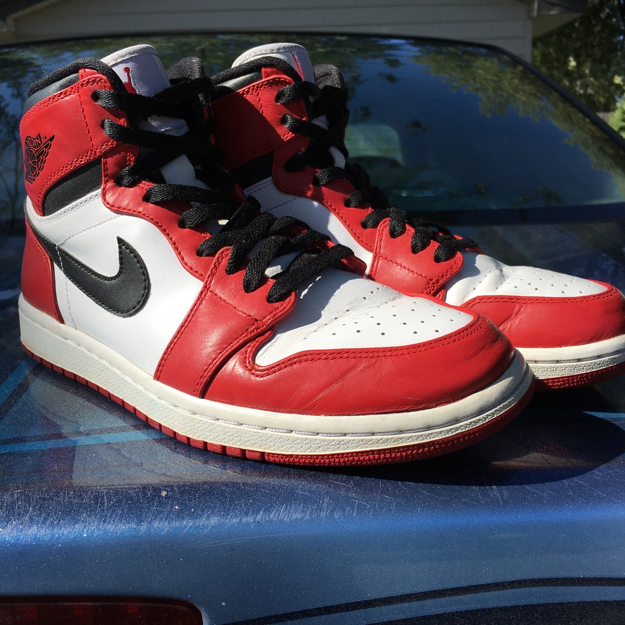 new arrival 98f08 d61f6 Nike Air Jordan 1 Chicago 2013 Some creases. Will... - Depop