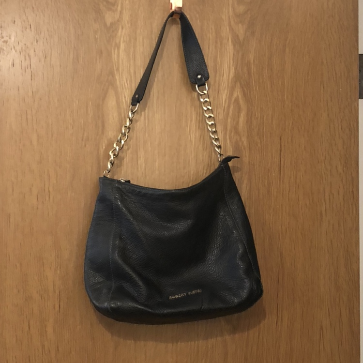 Good Prices good service huge discount Black leather handbag from TK Maxx. Used but in good ...