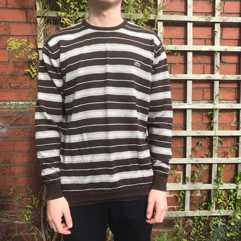 af15ce85 @kmkitbag. last year. Staffordshire, UK. Men's vintage Lacoste striped  jumper
